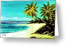 Sunset Beach Hawaiian #113 Greeting Card
