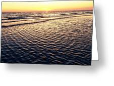 Sunset Beach In Florida Paradise Greeting Card