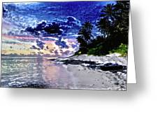 Sunset Beach Park Greeting Card