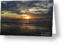 Sunset Beauty At Clearwater Greeting Card