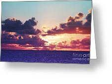Sunset Behind Clouds Greeting Card