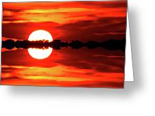 Sunset Behind The Trees At Kempenfelt Bay Two  Greeting Card