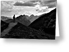Sunset Black And White Greeting Card