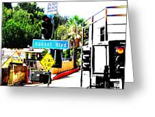 Sunset Blvd Greeting Card