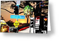 Sunset Blvd Meets Sunset Greeting Card