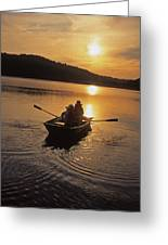 Sunset Boating  Greeting Card