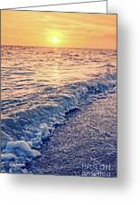 Sunset Bowman Beach Sanibel Island Florida Vintage Greeting Card