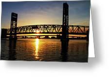 Sunset Bridge 1 Greeting Card