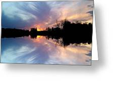 Sunset Brushstrokes Greeting Card