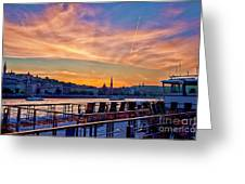 Sunset Budapest Greeting Card