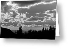 Sunset Bw Greeting Card