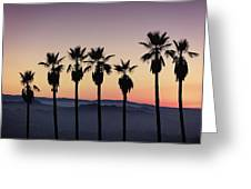 Sunset By La Greeting Card
