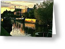 Sunset Canal Reflections Greeting Card