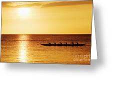 Sunset Canoe Greeting Card