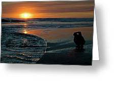 Sunset Capture Greeting Card