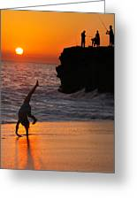 Sunset Cartwheel Greeting Card