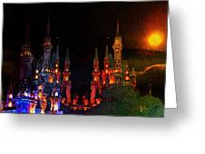 Sunset Castle Greeting Card