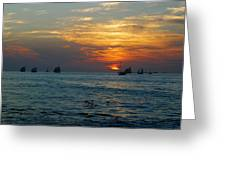Sunset Celebration Key West Fl Greeting Card