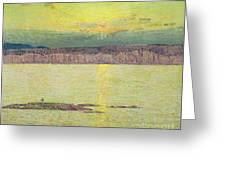 Sunset Greeting Card by Childe Hassam