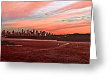 Sunset City Greeting Card