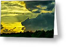 Sunset Cloud Animal Greeting Card