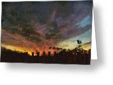 Sunset Cloud Impression Greeting Card
