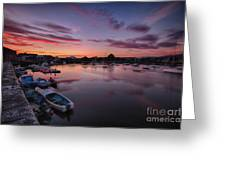 Sunset Clouds In The Sea Greeting Card