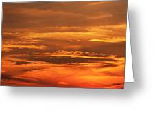 Sunset Clouds On Fire Greeting Card