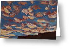 Sunset Clouds Over Santa Fe Greeting Card by Erin Fickert-Rowland