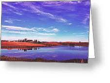 Sunset Clouds Over Wyoming Greeting Card