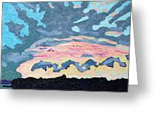 Sunset Cold Front Greeting Card