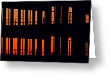 Sunset Color In The Spaces 2  Greeting Card