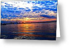 Sunset Colors Greeting Card