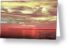 Sunset Colors On The Bay Greeting Card