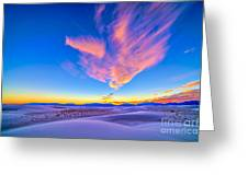 Sunset Colors Over White Sands National Greeting Card