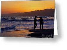 Sunset Couple Greeting Card