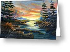 Sunset Creek Greeting Card