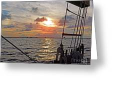 Sunset Cruise Greeting Card