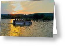 Sunset Cruising Greeting Card
