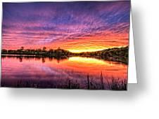 Sunset Culpeper Va Greeting Card