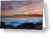 Sunset Curl Greeting Card