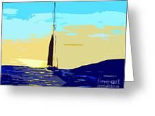 Sunset D1 Greeting Card
