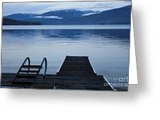 Sunset Dock At Priest Lake Greeting Card