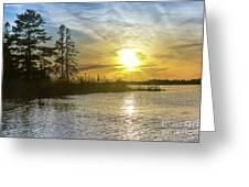 Sunset Dollarville Flooding Newberry Michigan -0243 Greeting Card