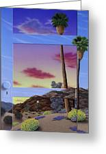 Sunset Door Greeting Card
