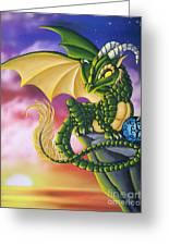 Sunset Dragon Greeting Card