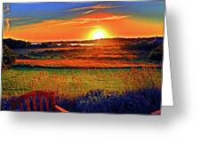 Sunset Eat Fire Spring Rd Nantucket Ma 02554 Large Format Artwork Greeting Card