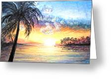 Sunset Exotics Greeting Card