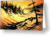 Sunset Extreme Greeting Card