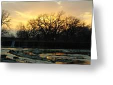 Sunset Falls Greeting Card